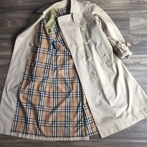 Vintage Burberry's Classic Trench Coat Size 6P